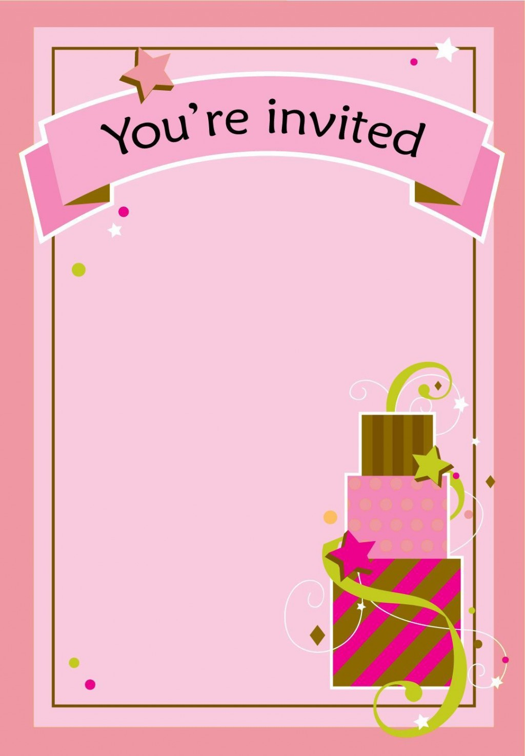 003 Awesome Free Birthday Card Invitation Template Printable Sample Large