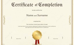 003 Awesome Free Certificate Of Completion Template Picture  Blank Printable Download Word Pdf