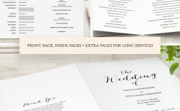 003 Awesome Free Wedding Order Of Service Template Microsoft Word Inspiration