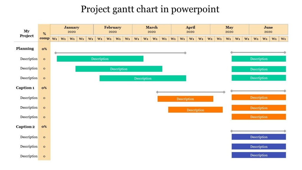 003 Awesome Gantt Chart Powerpoint Template Example  Microsoft Free Download MacLarge