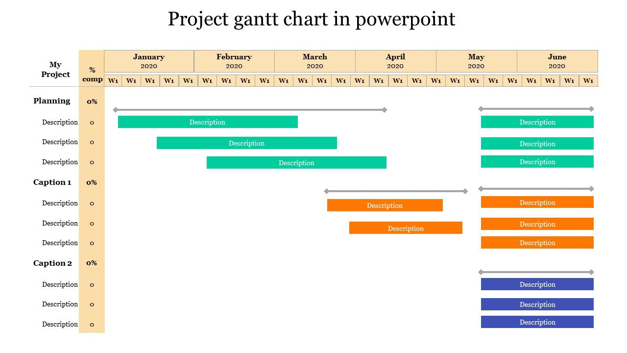 003 Awesome Gantt Chart Powerpoint Template Example  Microsoft Free Download MacFull