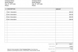003 Awesome Invoice Excel Example Download Concept