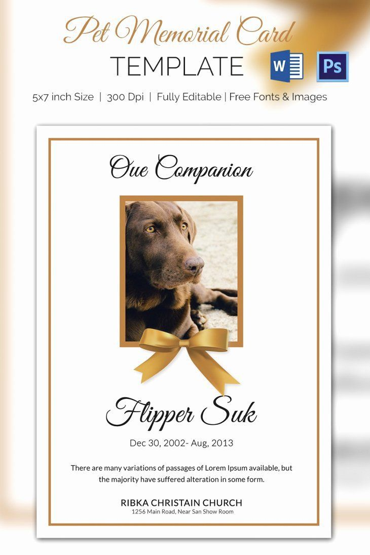 003 Awesome Memorial Card Template Free Download Design Full