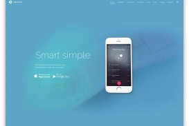 003 Awesome One Page Website Template Free Download Html5 Image  Parallax