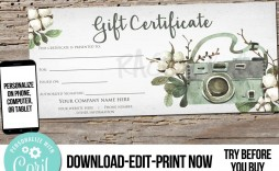 003 Awesome Photography Session Gift Certificate Template Concept  Photo Free