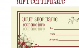003 Awesome Printable Gift Certificate Template High Definition  Card Free Christma Massage
