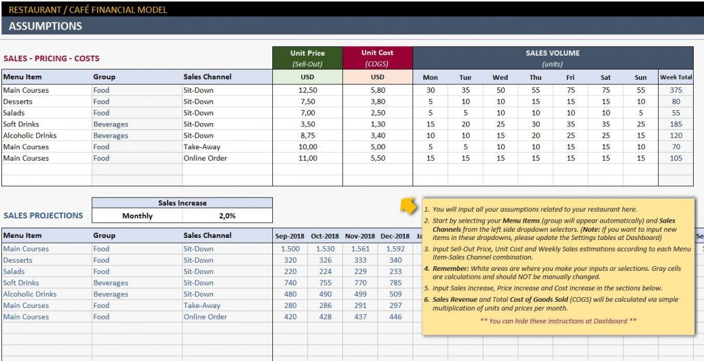 003 Awesome Simple Excel Busines Plan Template Inspiration  MicrosoftLarge
