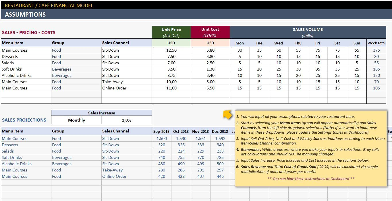 003 Awesome Simple Excel Busines Plan Template Inspiration  MicrosoftFull