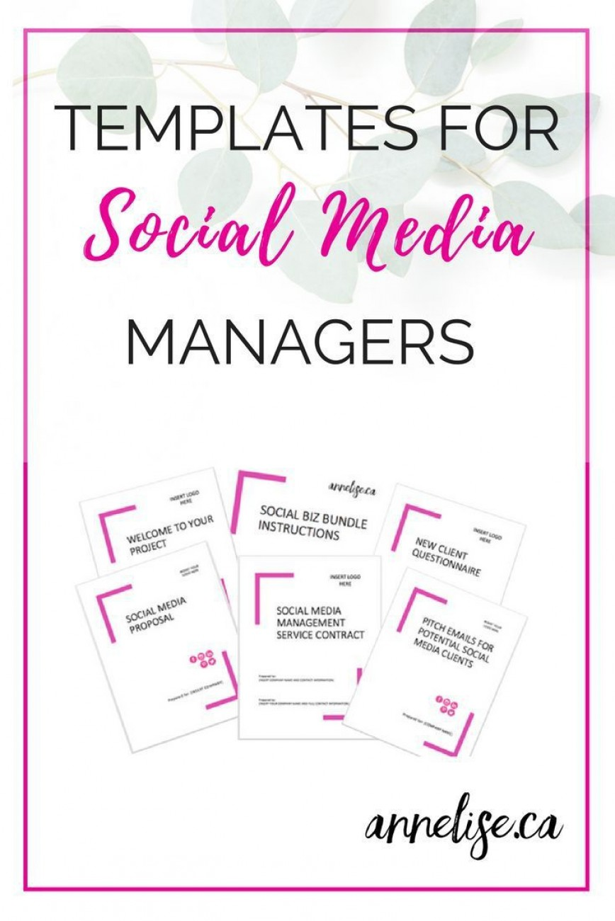 003 Awesome Social Media Proposal Template High Resolution  Plan Sample Pdf 2018868