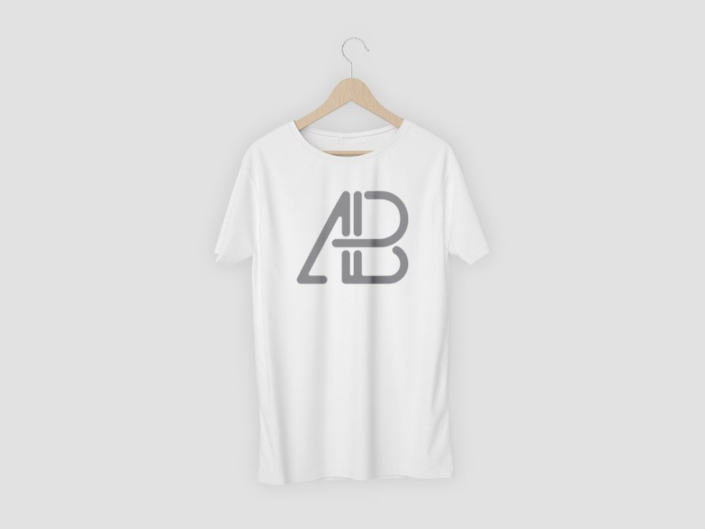 003 Awesome T Shirt Template Psd Highest Clarity  Design Mockup Free White CollarLarge