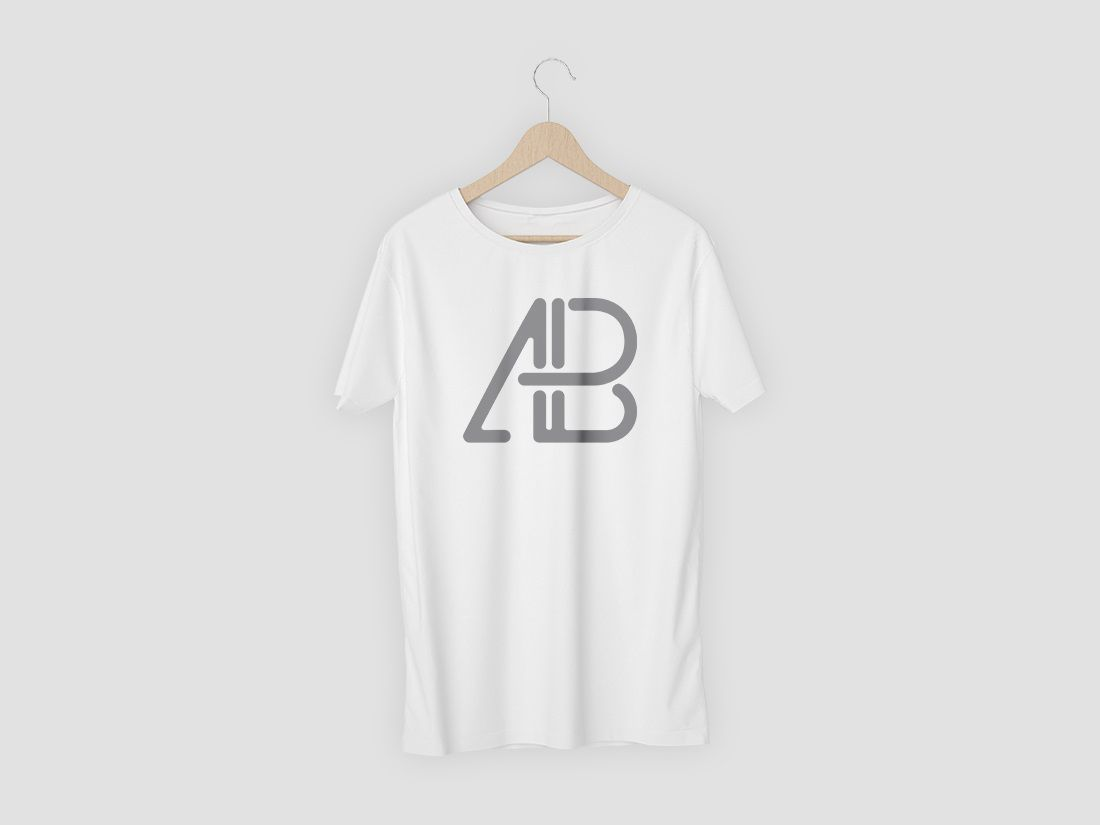 003 Awesome T Shirt Template Psd Highest Clarity  Design Mockup Free White CollarFull