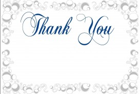 003 Awesome Thank You Card Template Sample  Wedding Busines Word Free