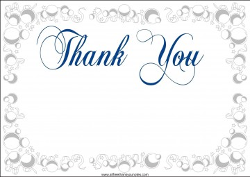 003 Awesome Thank You Card Template Sample  Wedding Busines Word Free360