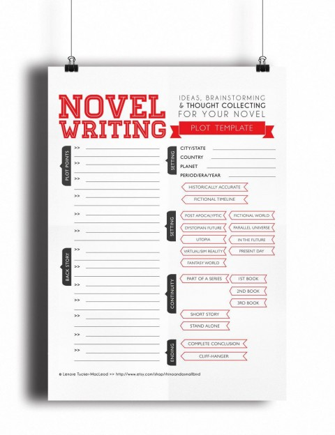 003 Awesome Writing A Novel Outline Template Highest Clarity  Sample480