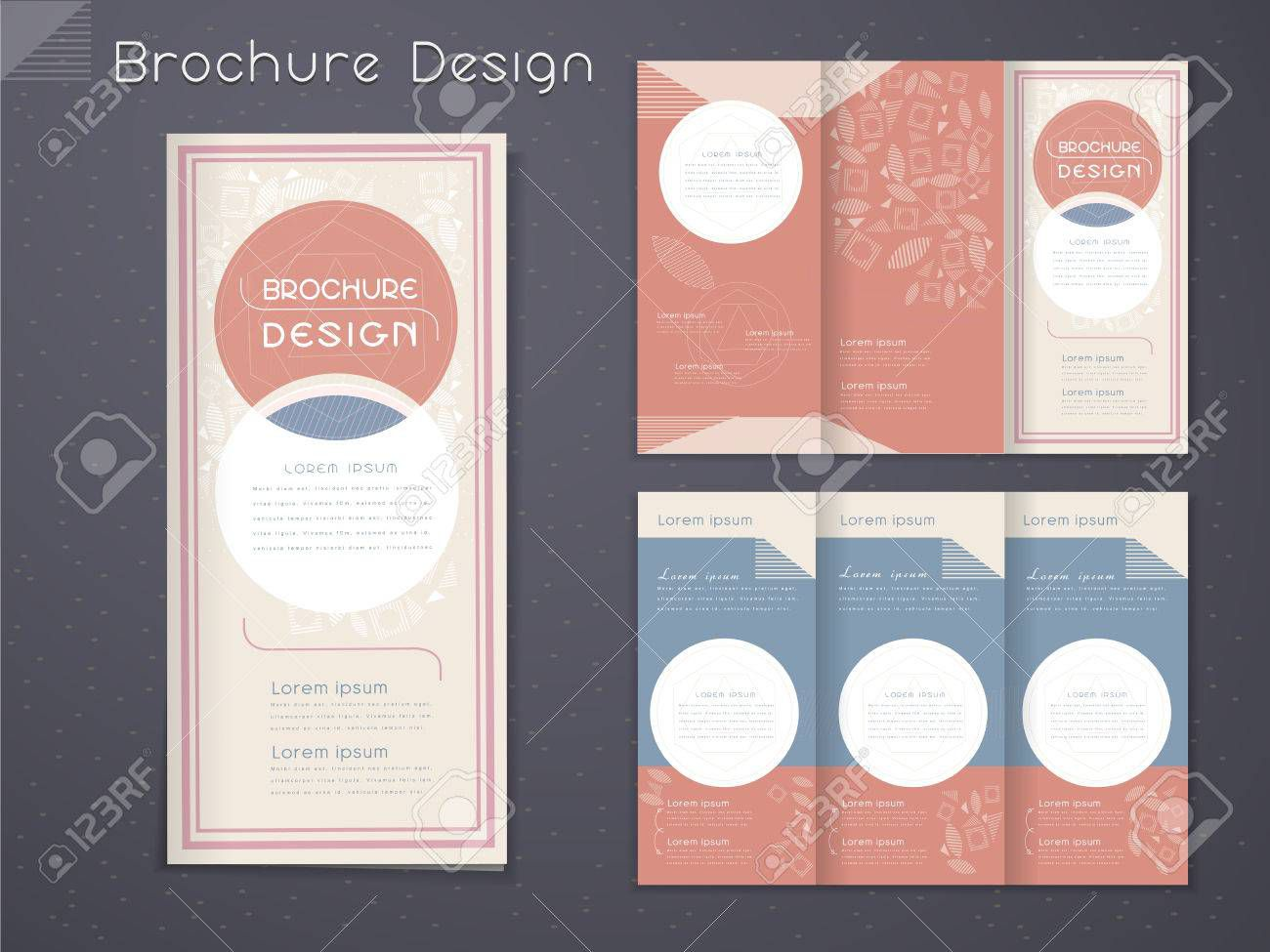 003 Awful 3 Fold Brochure Template Free Picture  Word DownloadFull
