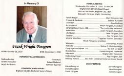 003 Awful Catholic Funeral Program Template Highest Quality  Mas Layout Free