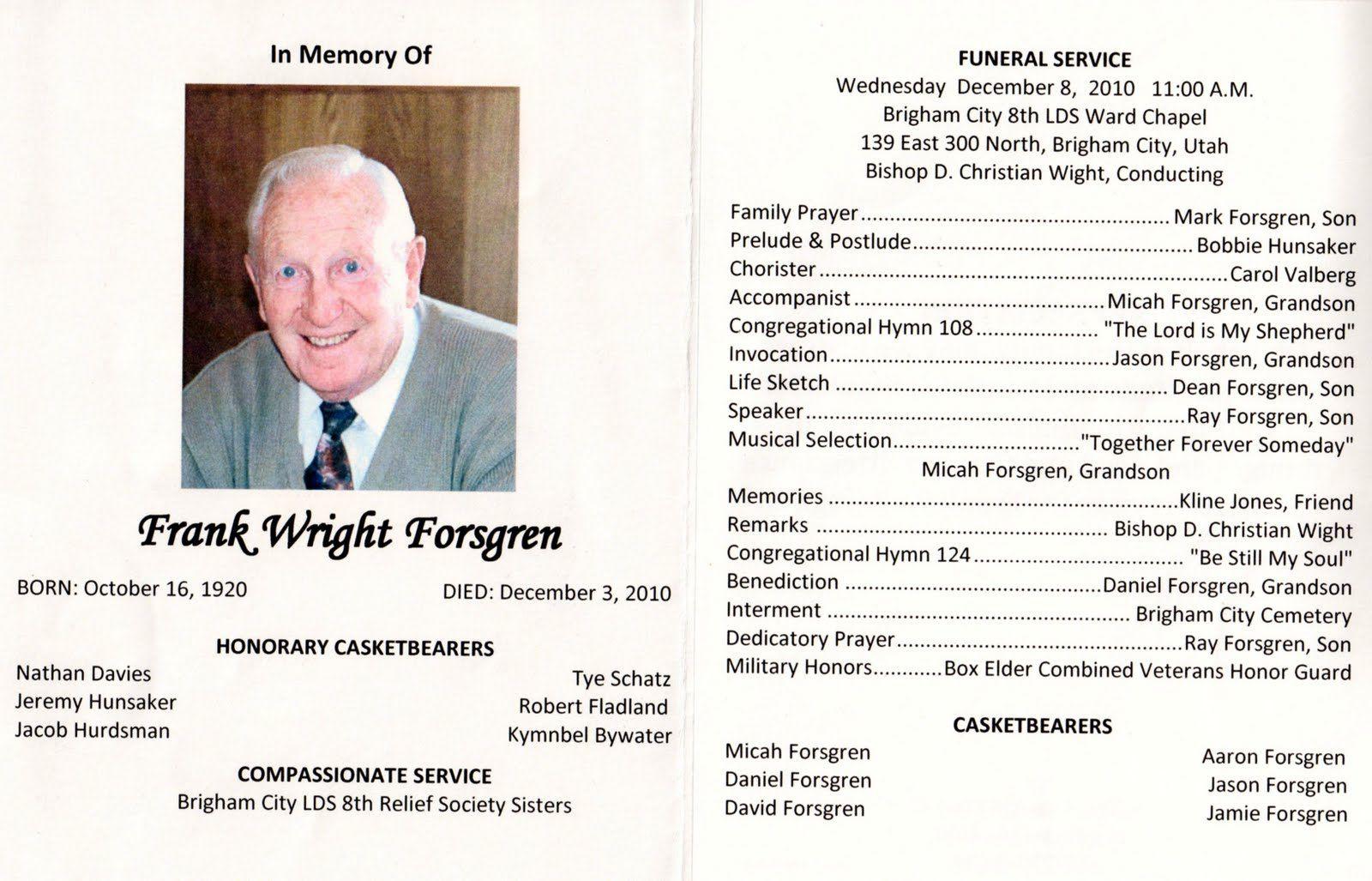 003 Awful Catholic Funeral Program Template Highest Quality  Mas Layout FreeFull