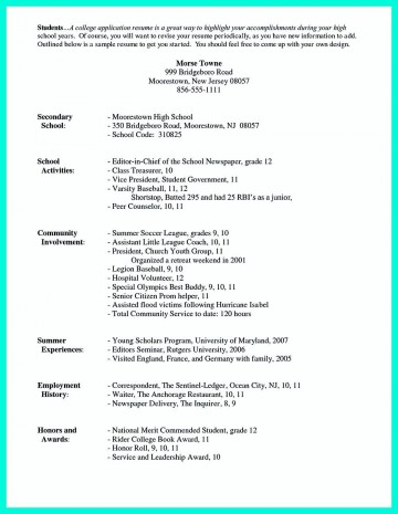 003 Awful College Admission Resume Template Sample  Microsoft Word Application Download360