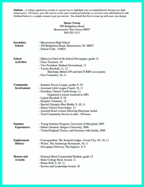 003 Awful College Admission Resume Template Sample  Microsoft Word Application Download480