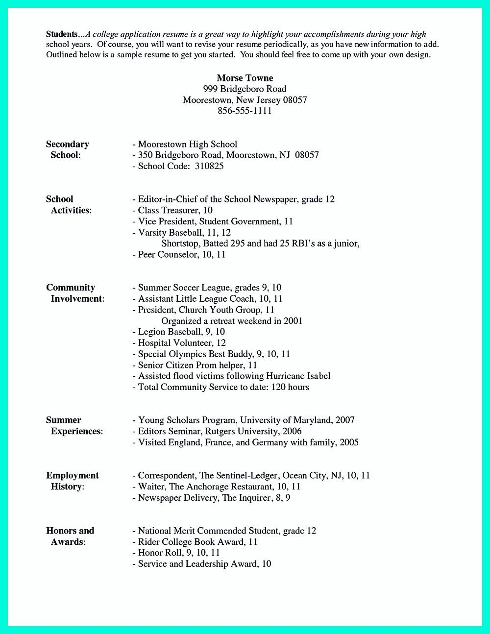 003 Awful College Admission Resume Template Sample  Microsoft Word Application DownloadFull