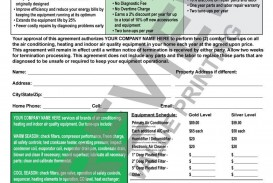 003 Awful Commercial Hvac Service Agreement Template High Def  Maintenance Contract