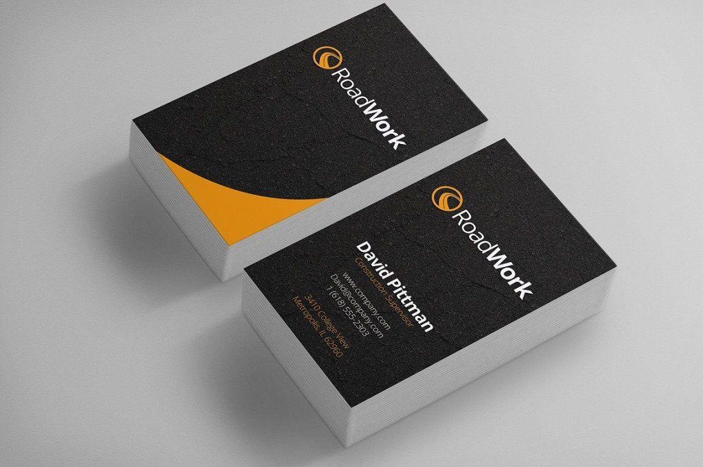 003 Awful Construction Busines Card Template High Definition  Templates Visiting Company Format Design PsdLarge