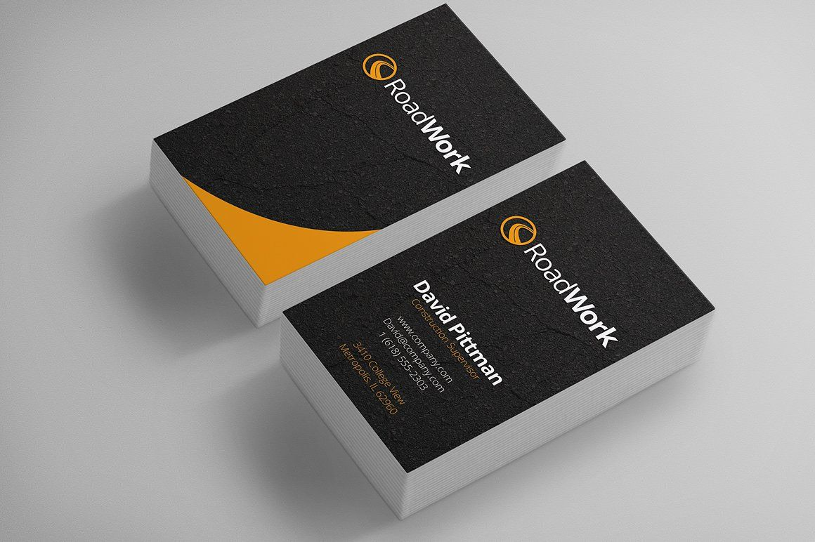 003 Awful Construction Busines Card Template High Definition  Templates Visiting Company Format Design PsdFull