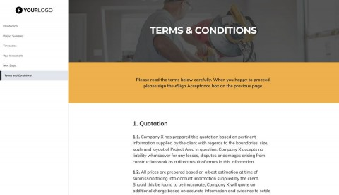 003 Awful Construction Job Proposal Template Highest Quality  Example480