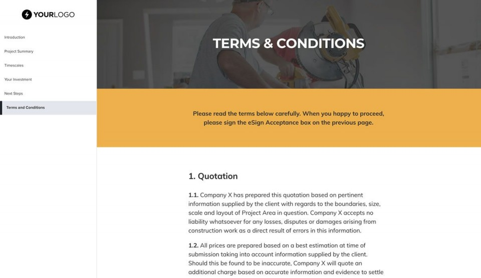003 Awful Construction Job Proposal Template Highest Quality  Example960