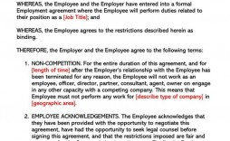 003 Awful Employee Non Compete Agreement Template Concept  Free Disclosure Confidentiality Non-compete