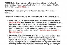 003 Awful Employee Non Compete Agreement Template Concept  Free Confidentiality Non-compete Disclosure