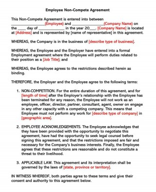 003 Awful Employee Non Compete Agreement Template Concept  Free Confidentiality Non-compete Disclosure320