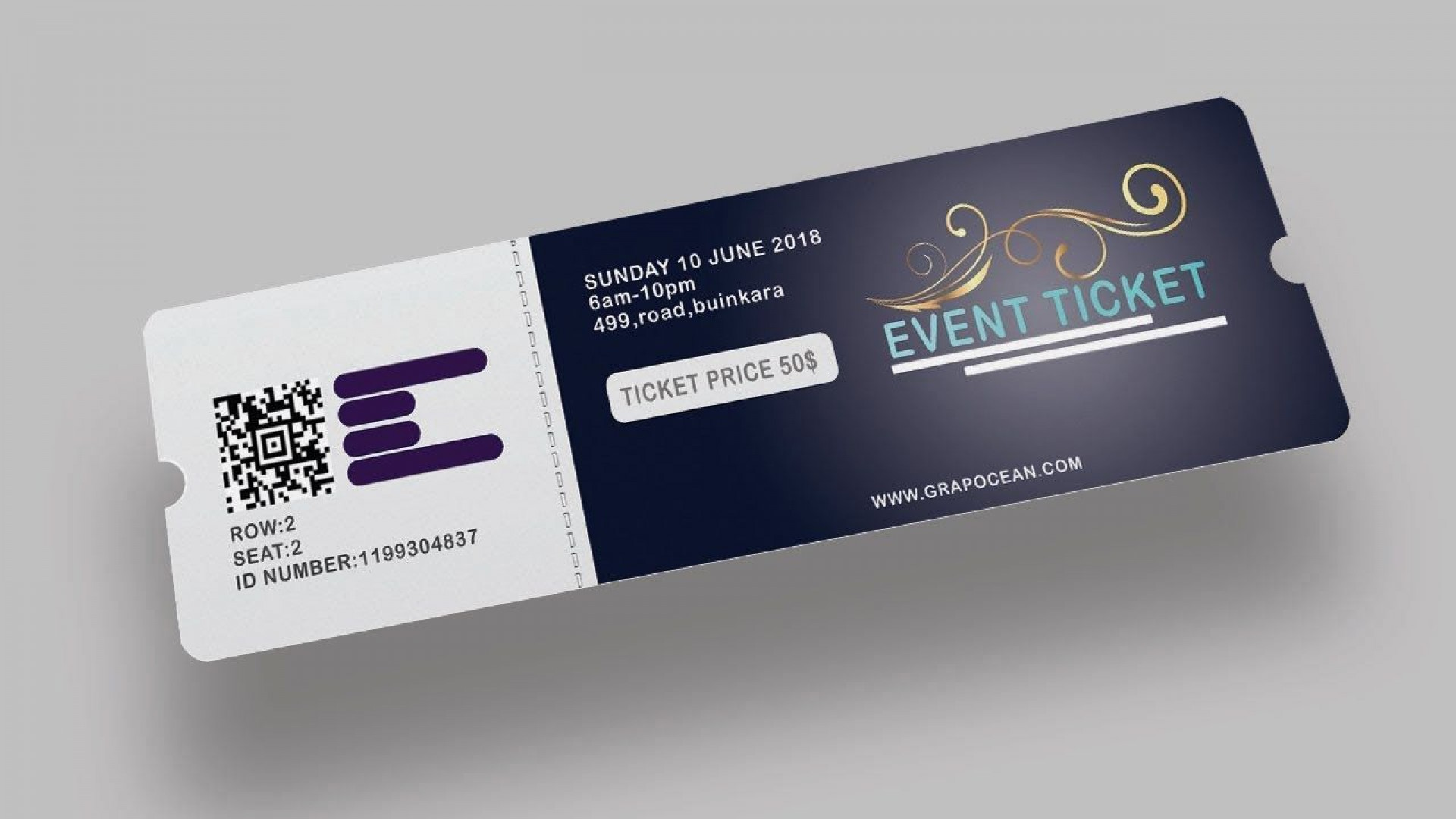 003 Awful Event Ticket Template Photoshop Highest Quality  Design Psd Free Download1920