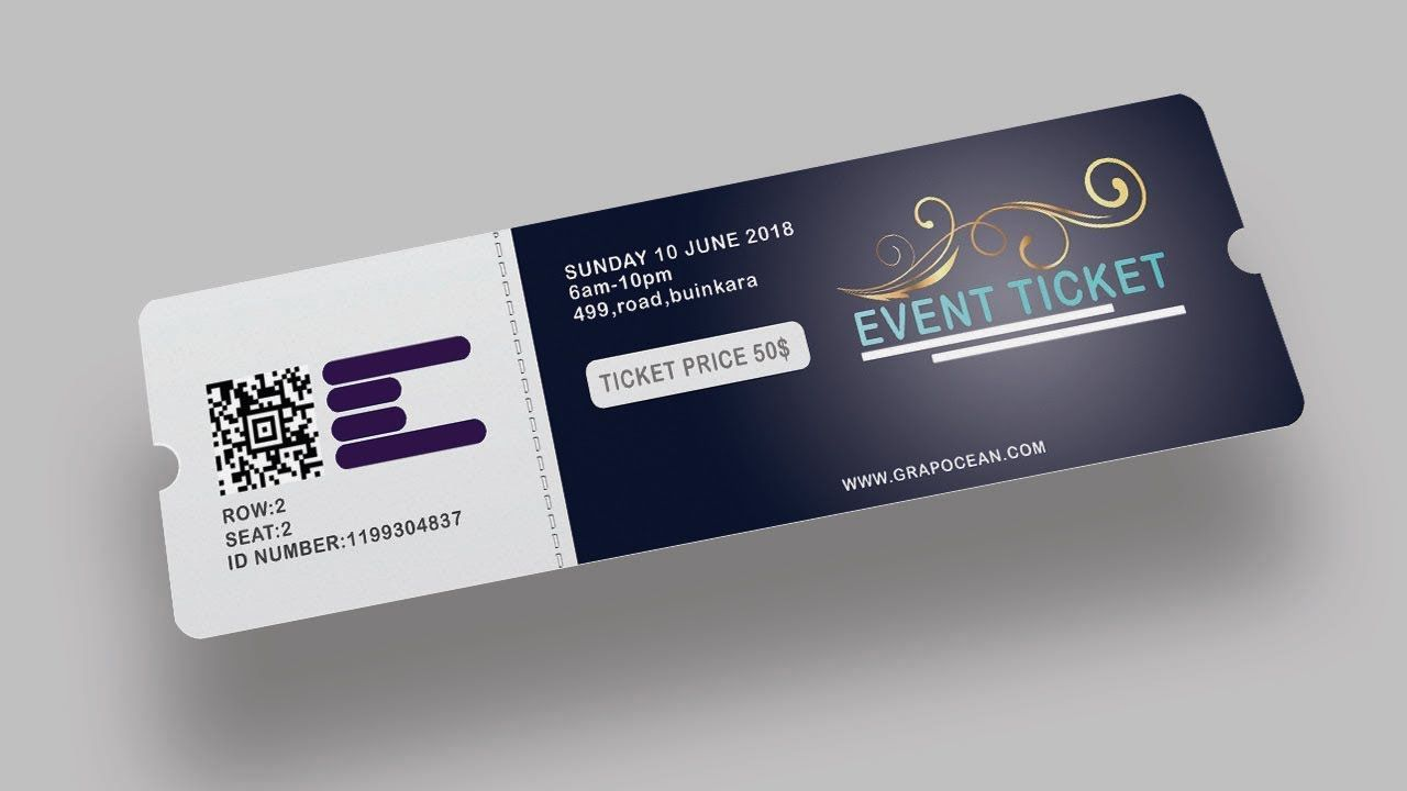 003 Awful Event Ticket Template Photoshop Highest Quality  Design Psd Free DownloadFull