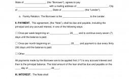 003 Awful Family Loan Agreement Template Idea  Free Uk Australia