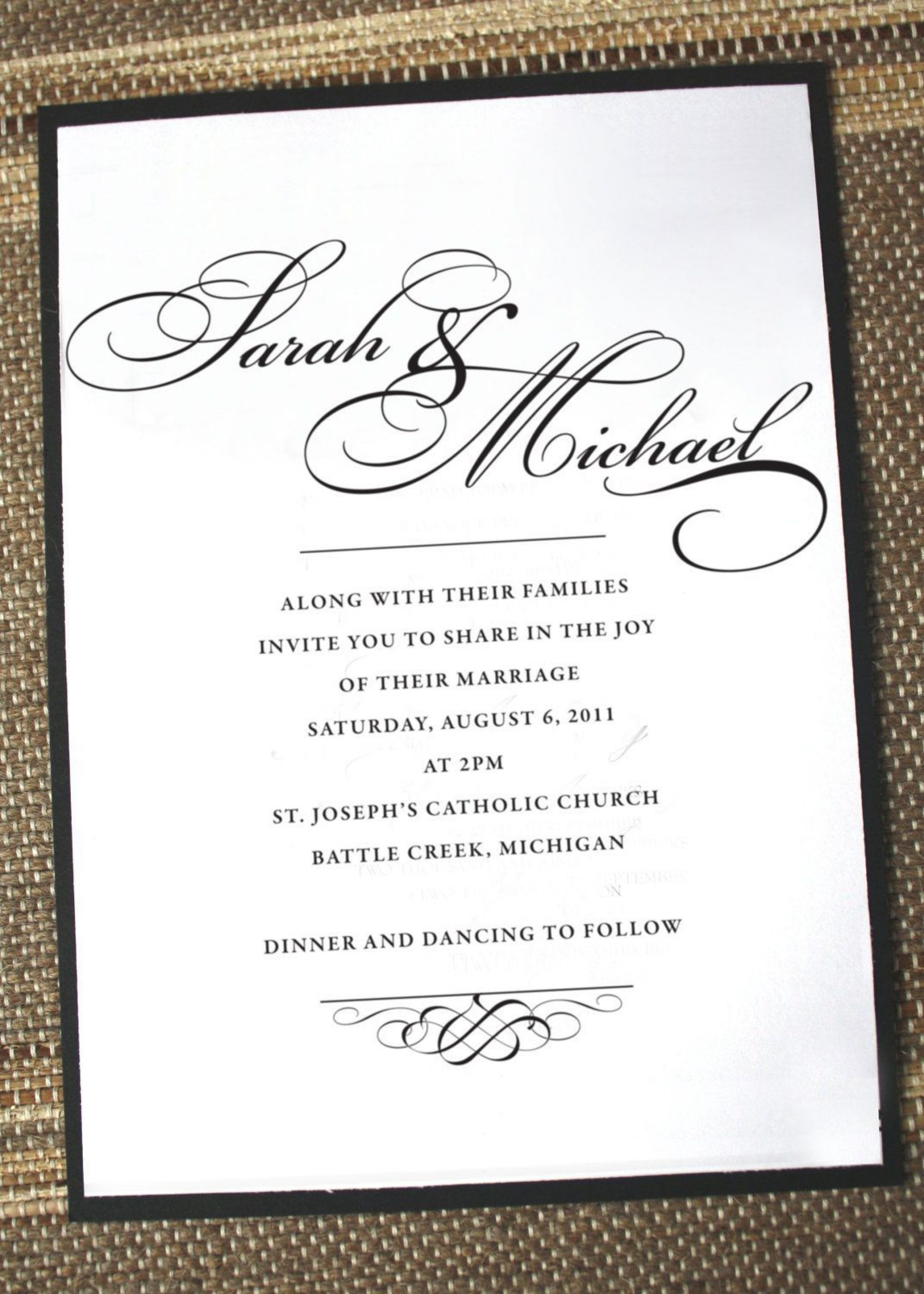 003 Awful Formal Wedding Invitation Wording Template High Def  Templates1920