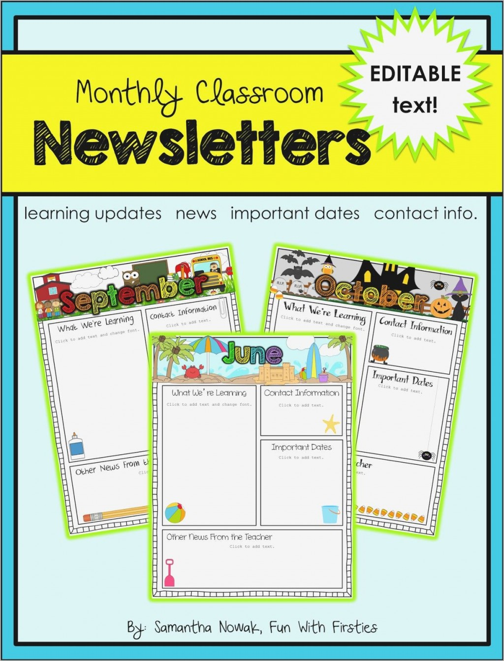 003 Awful Free Editable Daycare Newsletter Template For Word Idea  ClassroomLarge