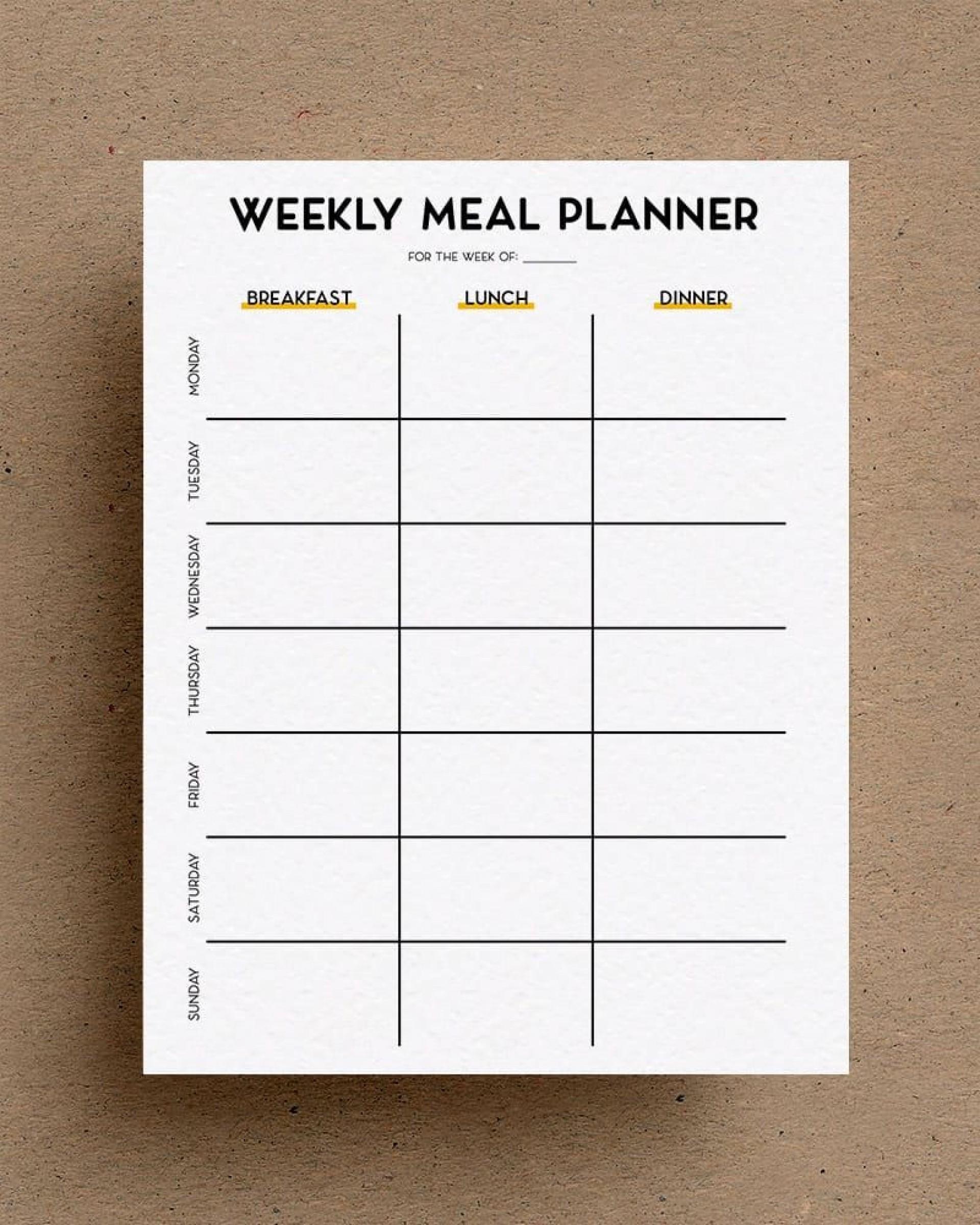 003 Awful Free Printable Weekly Meal Plan Template Design  Planning Worksheet1920