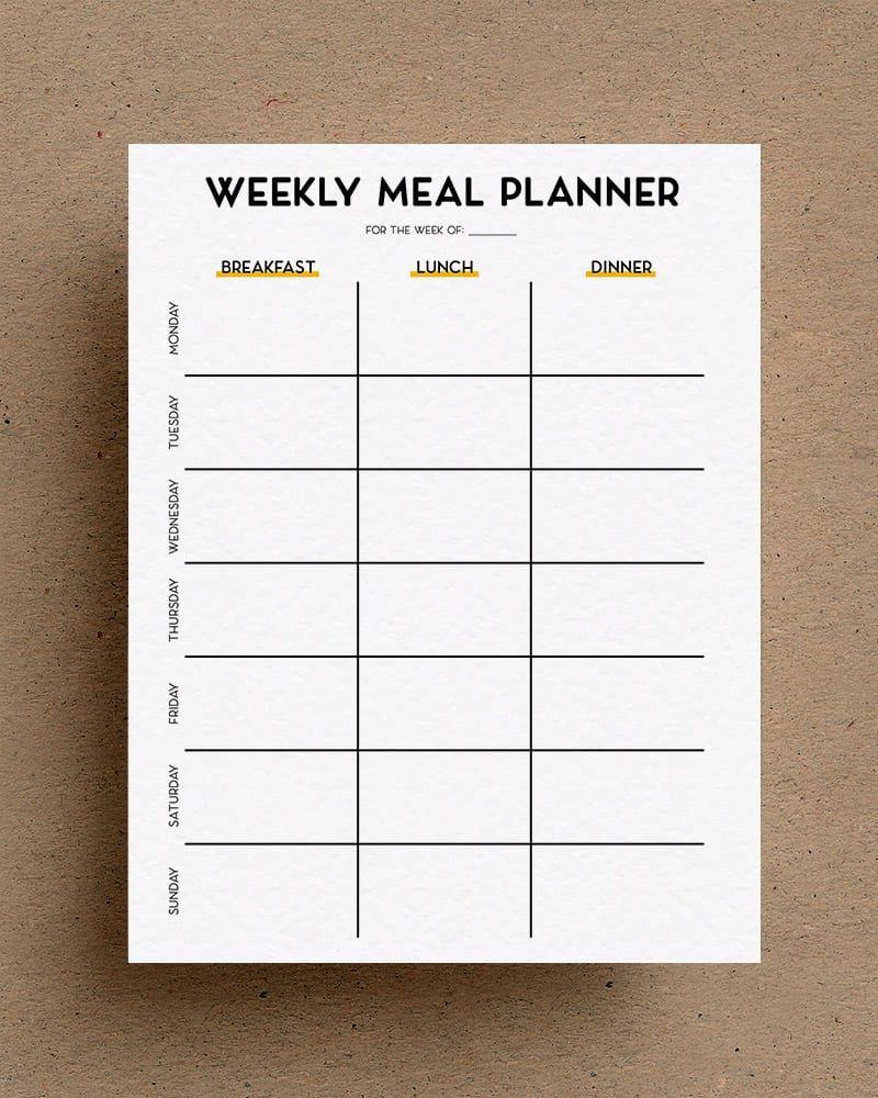 003 Awful Free Printable Weekly Meal Plan Template Design  Planning WorksheetFull