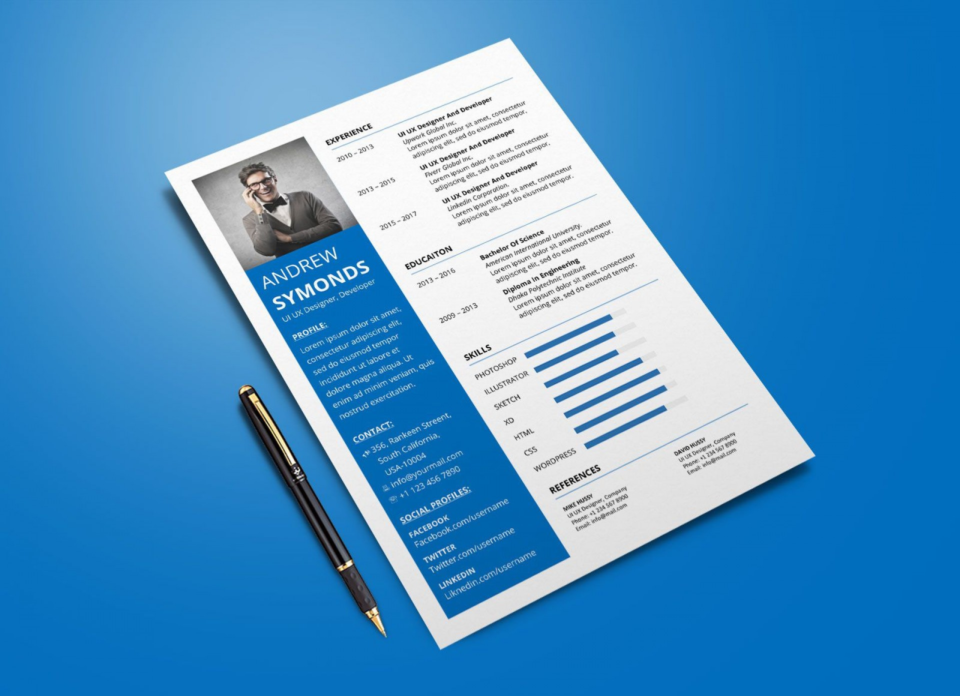 003 Awful Free Resume Template 2015 Picture 1920