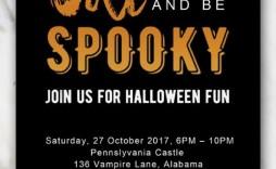 003 Awful Halloween Party Invite Template Idea  Templates - Free Printable Spooky Invitation Birthday