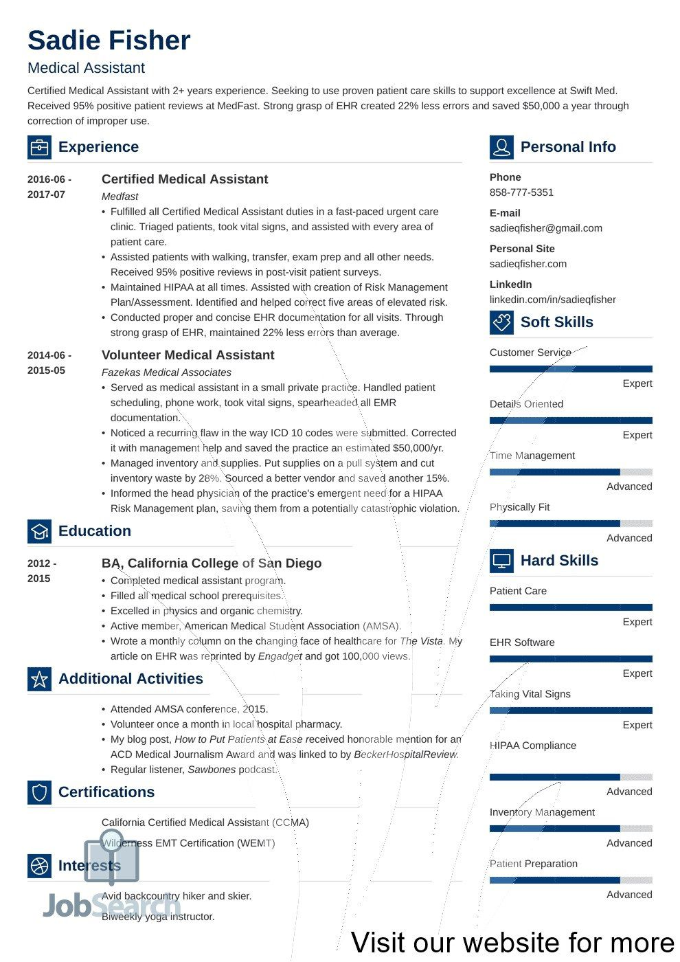 003 Awful Medical Resume Template Free Inspiration  Receptionist Cv CoderFull