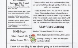 003 Awful Newsletter Template For Teacher To Parent Idea  Parents