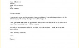 003 Awful Sample Resignation Letter Template High Def  For Teacher Word - Free Downloadable