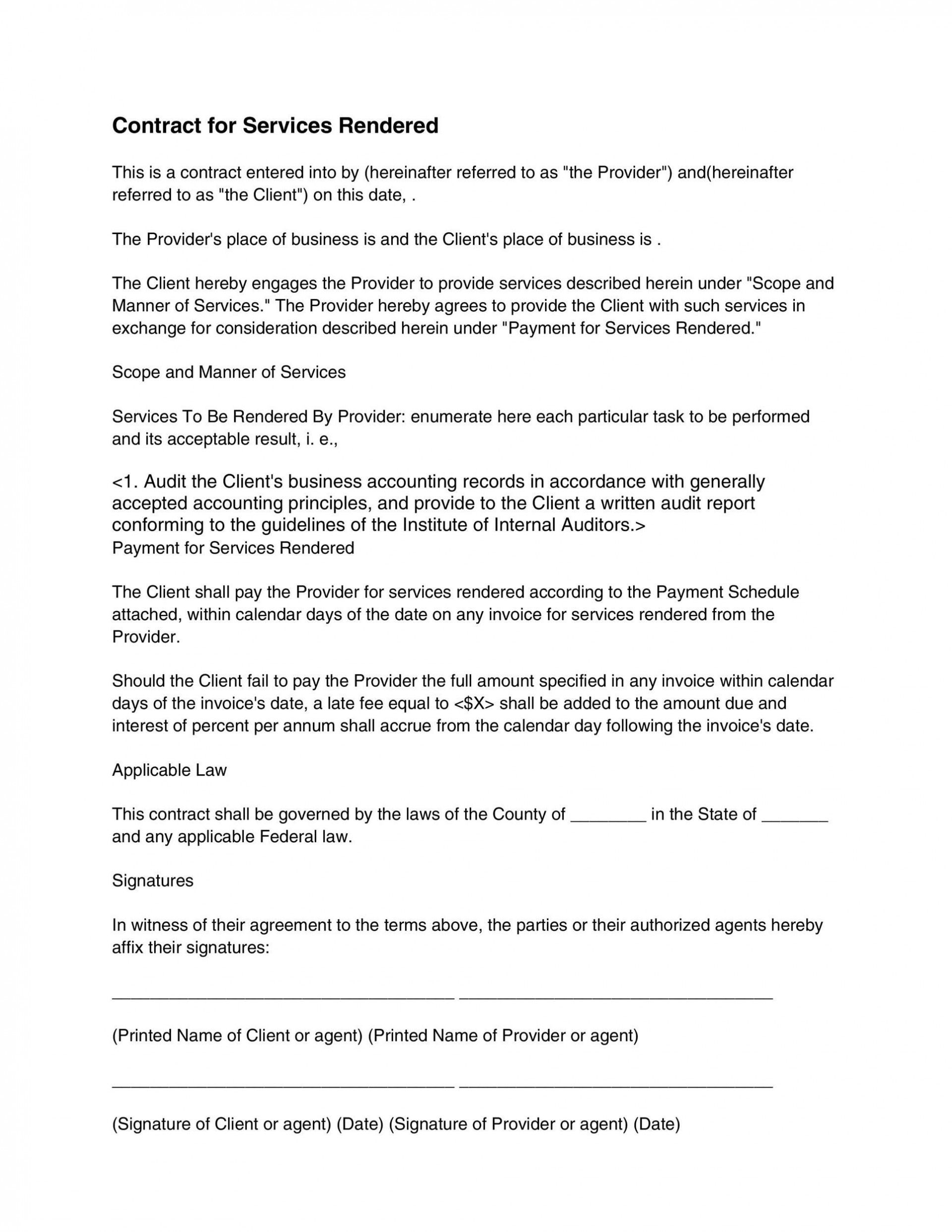003 Awful Term Of Agreement Template High Resolution  Service Contract Busines Uk1920