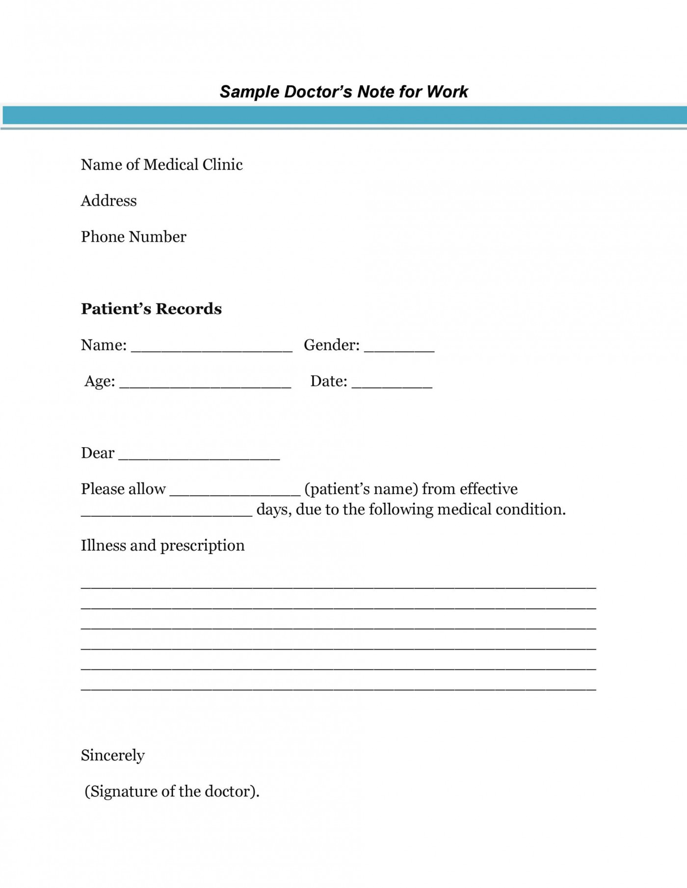 003 Awful Urgent Care Doctor Note Template High Resolution  Sample Fake Doctor' Printable1400