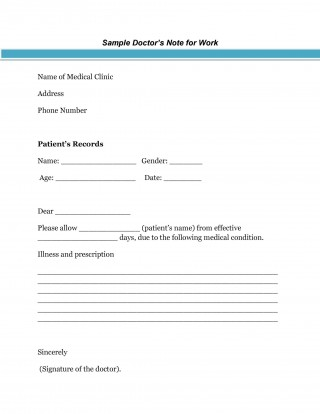 003 Awful Urgent Care Doctor Note Template High Resolution  Sample Fake Doctor' Printable320
