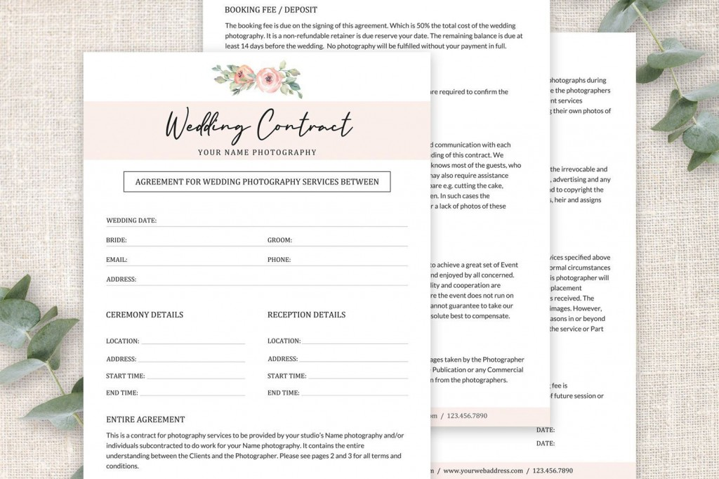003 Awful Wedding Photography Contract Template Pdf Idea Large