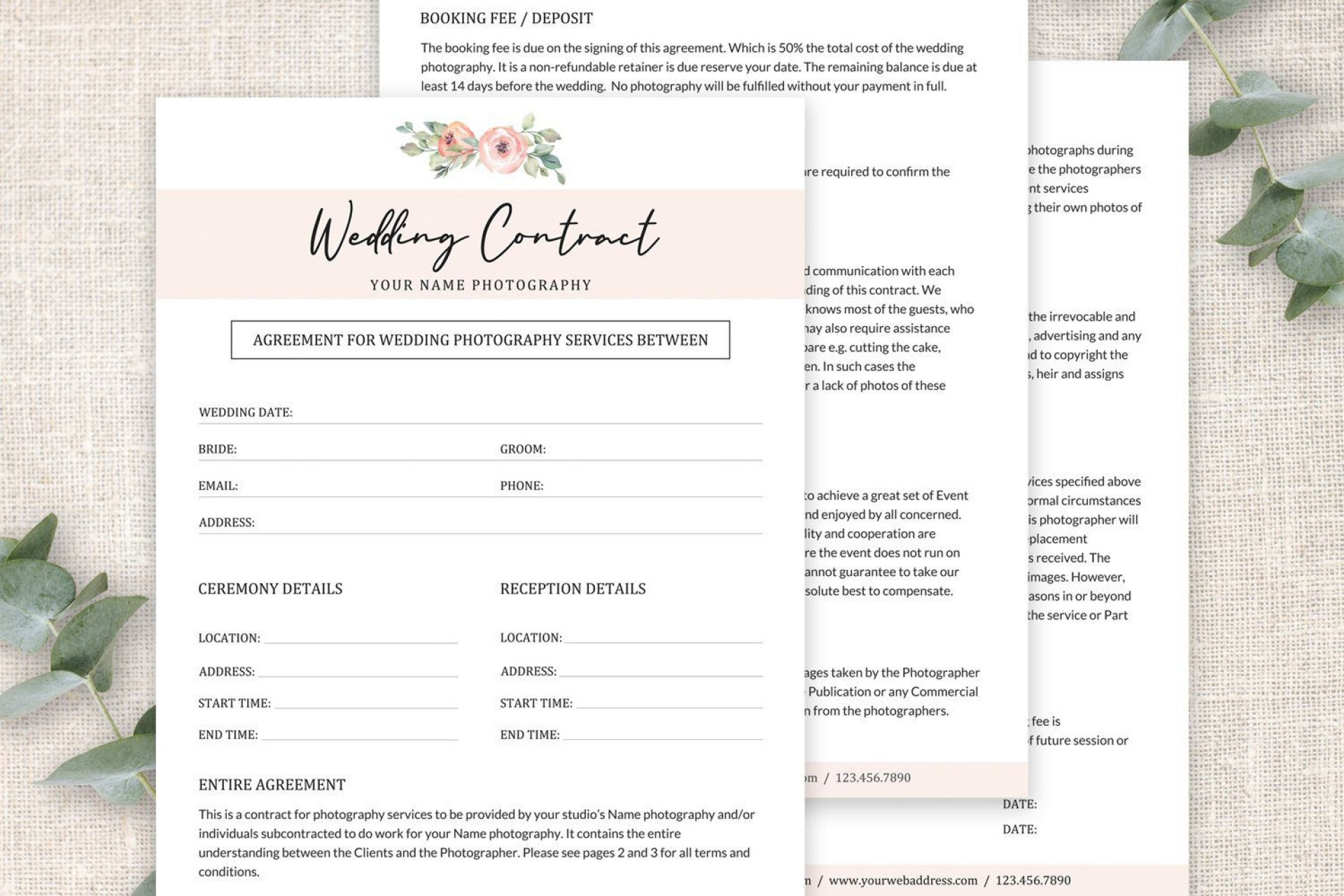 003 Awful Wedding Photography Contract Template Pdf Idea 1920
