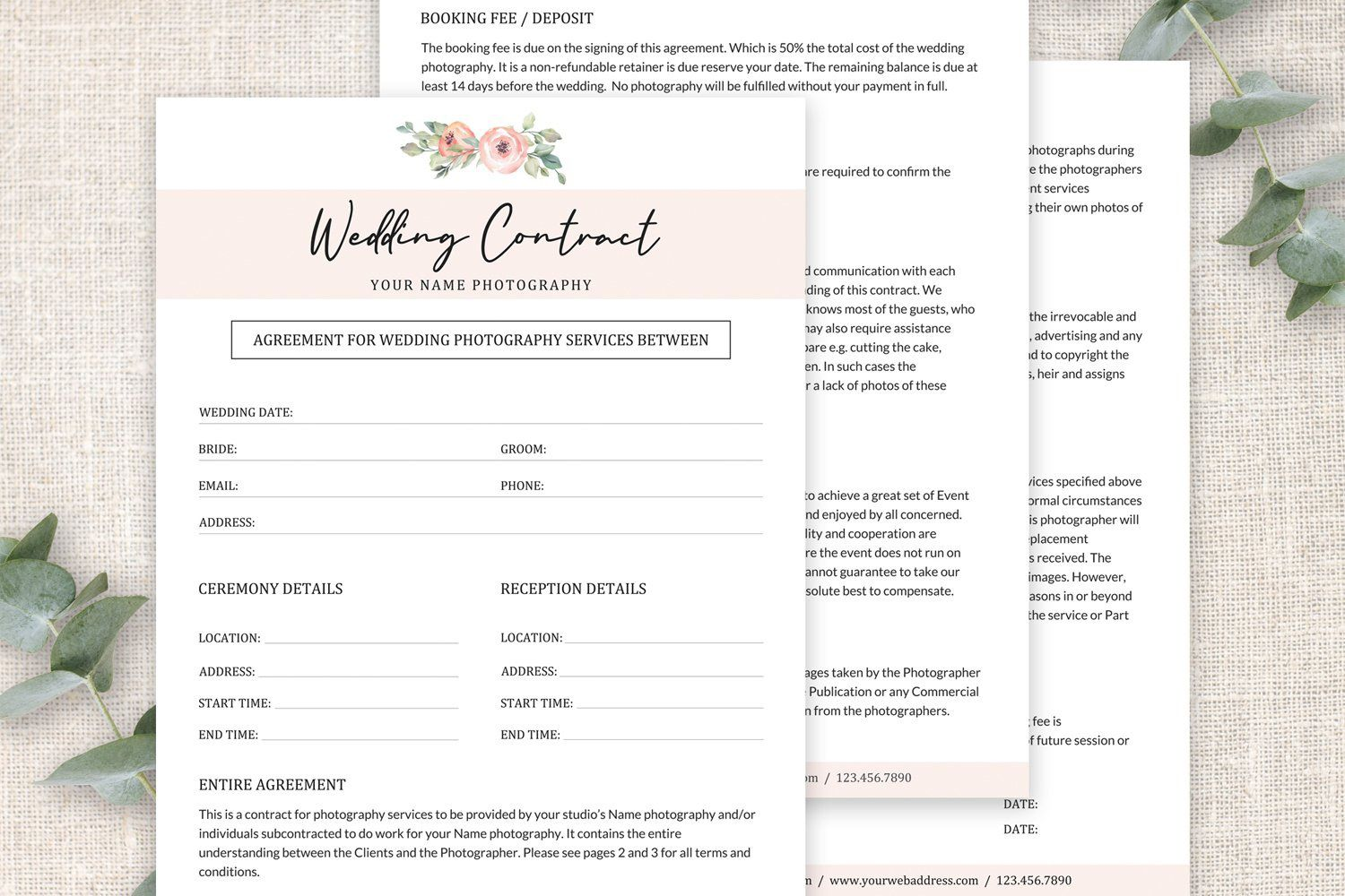 003 Awful Wedding Photography Contract Template Pdf Idea Full